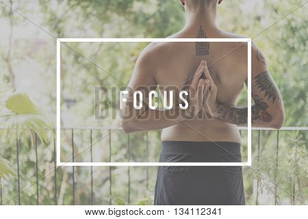 Focus Concentrate Determine Focal Point Target Concept