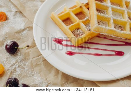 Composition for waffers on parchment and plate