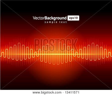 Abstract waveform vector background