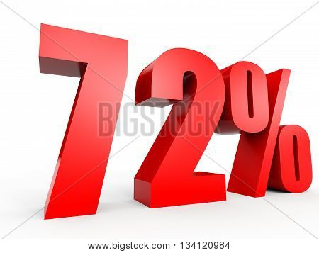 Discount 72 Percent Off. 3D Illustration.