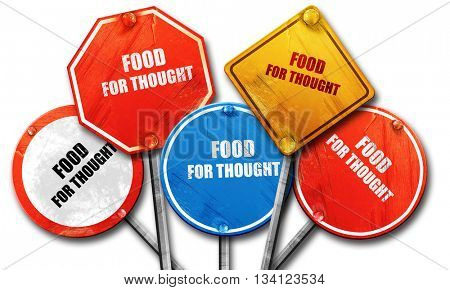 food for thought, 3D rendering, rough street sign collection