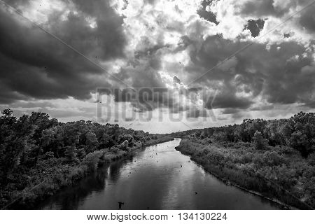 Before another Oklahoma Storm on the South Canadian River