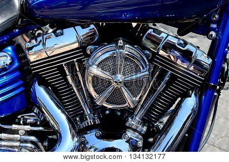 New motorcycle Chrome coated V-Twin engine image
