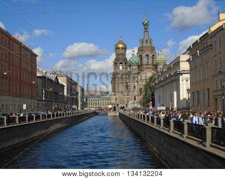 Saviour on the spilt Blood. St. Petersburg. Russia.