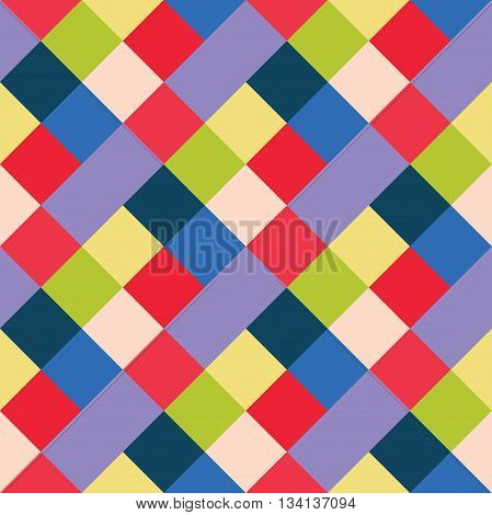 Seamless geometric pattern. Madras check pattern with blue green red. Digital print for wallpaper wrapping paper fabric textile scrap booking apparel web design.Vector seamless background.