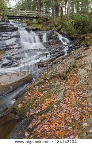 Little High Falls in fall tucked away in Bracebridge.