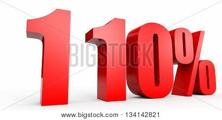 Discount 110 percent off. 3D illustration on white background.
