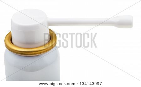 White Spray Mouthpiece Of Medical Aerosol Can