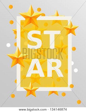 Golden stars design elements. Vector illustration. Background with stars. Best of the best concept.