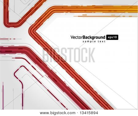 Abstract retro technology microchip vector background. Eps 10