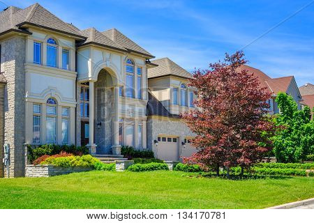 Custom built luxury house in the suburbs of Toronto, Canada.
