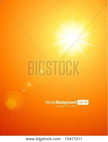 Sun light vector background