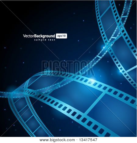 Film strip vector background