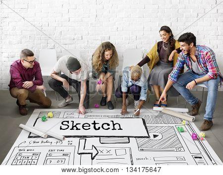Sketch Ideas Design Conceptualize Plan Concept