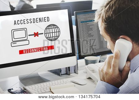 Access Denied Password Protection Safety System Concept