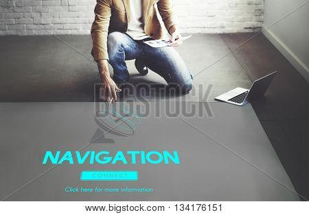 Broadcast Data Transmission GPS Navigation Concept