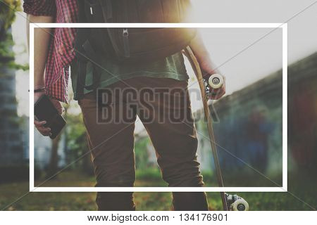 People Lifestyle Interests Frame Graphic Concept