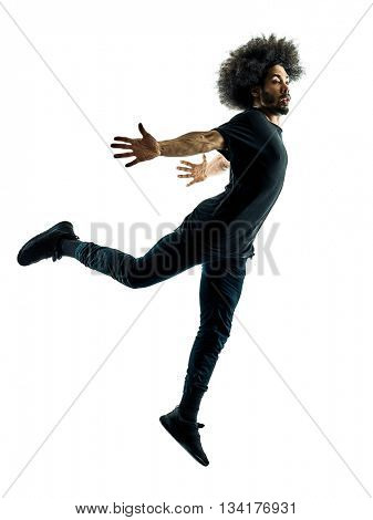 african man dancer dancing silhouette isolated
