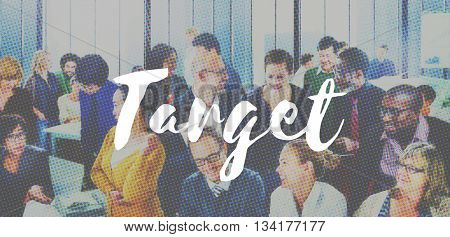 Target Advertising Goal Inspiration Marketing Concept