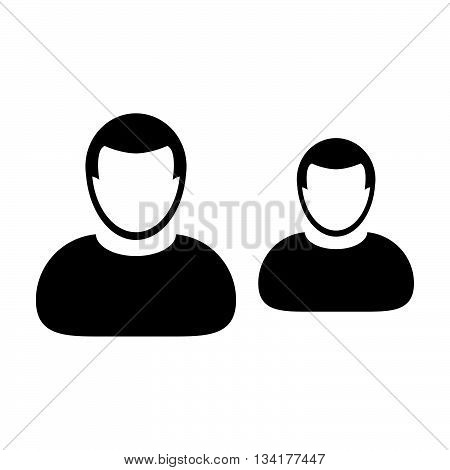 User Icon - Team, Group, Leader, Business, Management icon in glyph vector illustration