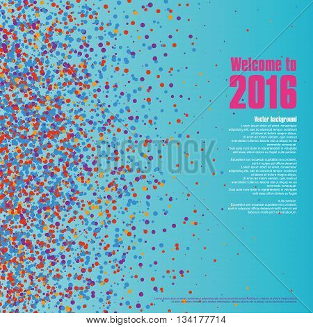 Colorful dots abstract background, Celebrations vector background.