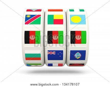 Slots With Flag Of Afghanistan