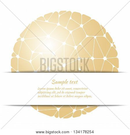 Poster design with golden abstract pattern and space for text. Vector template for covers banners cards etc.