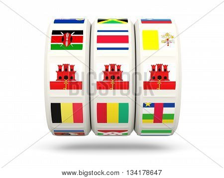 Slots With Flag Of Gibraltar