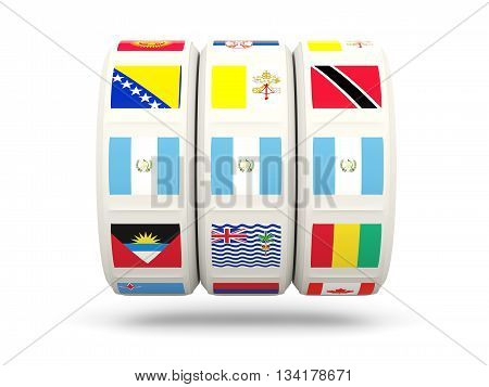 Slots With Flag Of Guatemala