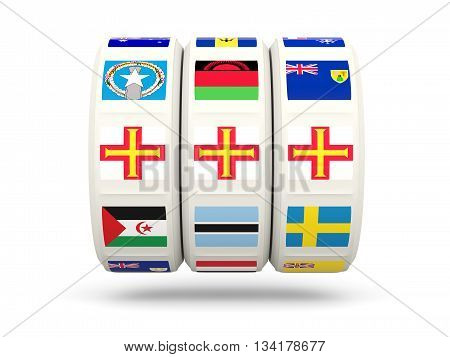 Slots With Flag Of Guernsey