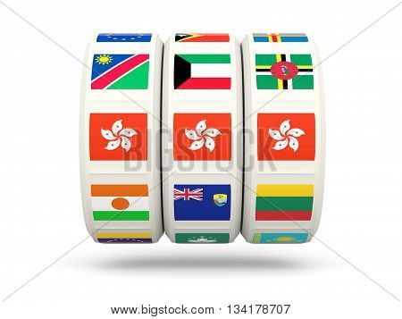 Slots With Flag Of Hong Kong