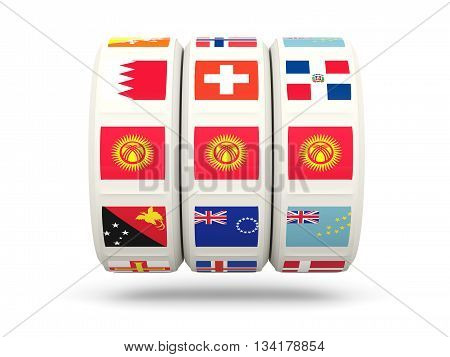 Slots With Flag Of Kyrgyzstan