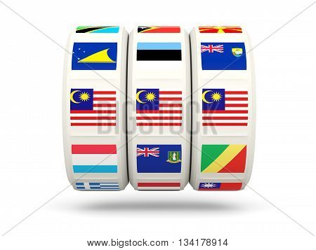 Slots With Flag Of Malaysia