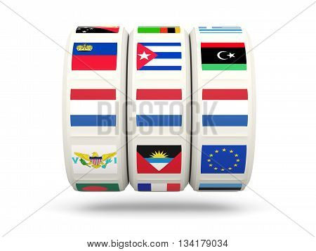 Slots With Flag Of Netherlands