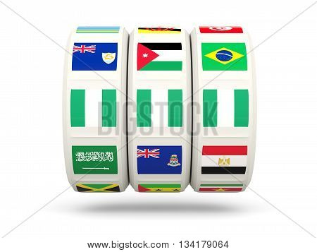 Slots With Flag Of Nigeria