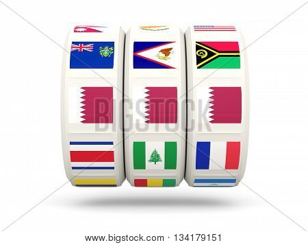 Slots With Flag Of Qatar