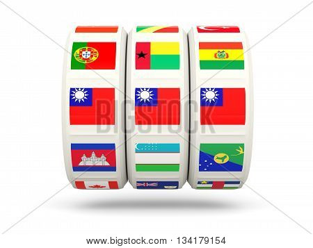 Slots With Flag Of Republic Of China