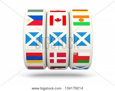 Slots With Flag Of Scotland