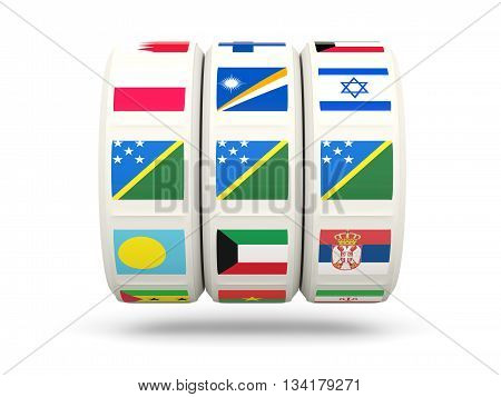 Slots With Flag Of Solomon Islands