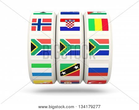 Slots With Flag Of South Africa