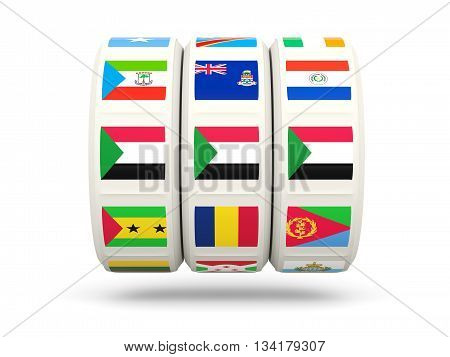 Slots With Flag Of Sudan
