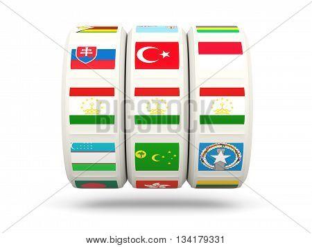 Slots With Flag Of Tajikistan
