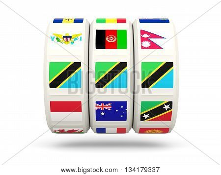 Slots With Flag Of Tanzania