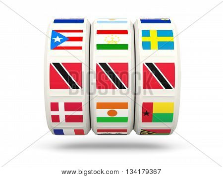 Slots With Flag Of Trinidad And Tobago