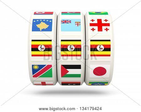Slots With Flag Of Uganda