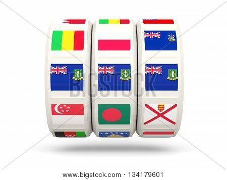 Slots With Flag Of Virgin Islands British