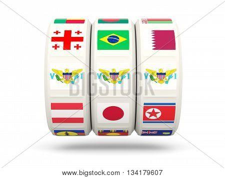 Slots With Flag Of Virgin Islands Us