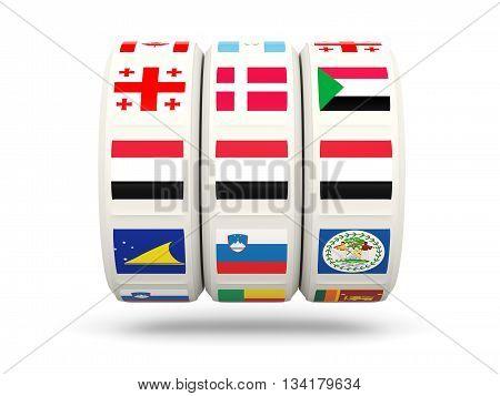Slots With Flag Of Yemen