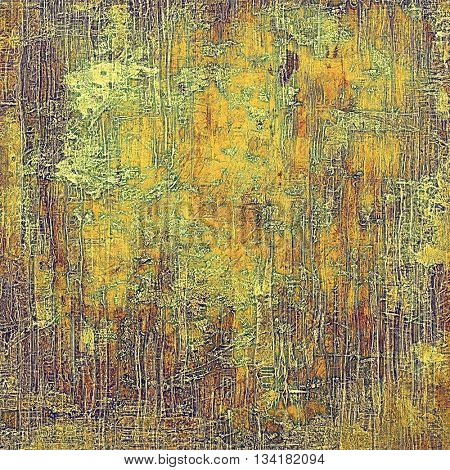 Vintage decorative background, antique grunge texture with different color patterns: yellow (beige); brown; green; gray; red (orange); purple (violet)
