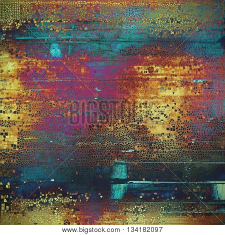 Vintage background - dirty ancient texture. Antique grunge backdrop with different color patterns: yellow (beige); brown; blue; red (orange); purple (violet); pink